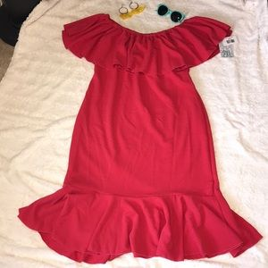 NWT Lularoe CICI dress - coral red